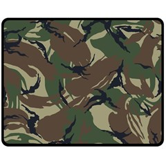 Army Shirt Grey Green Blue Double Sided Fleece Blanket (medium)  by Jojostore