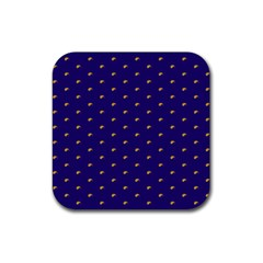 Blue Yellow Sign Rubber Square Coaster (4 Pack)  by Jojostore