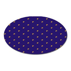 Blue Yellow Sign Oval Magnet by Jojostore