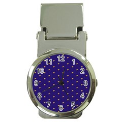 Blue Yellow Sign Money Clip Watches
