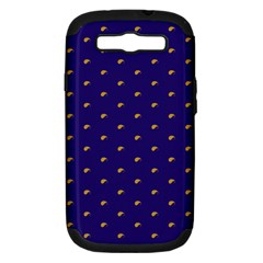 Blue Yellow Sign Samsung Galaxy S Iii Hardshell Case (pc+silicone)