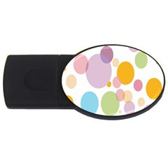 Bubble Water Yellow Blue Green Orange Pink Circle Usb Flash Drive Oval (2 Gb) by Jojostore