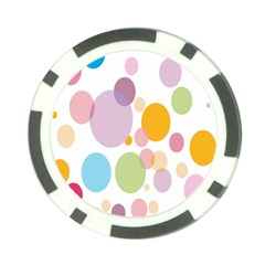 Bubble Water Yellow Blue Green Orange Pink Circle Poker Chip Card Guard by Jojostore