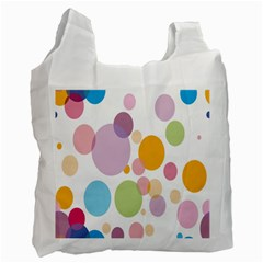 Bubble Water Yellow Blue Green Orange Pink Circle Recycle Bag (one Side) by Jojostore