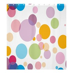 Bubble Water Yellow Blue Green Orange Pink Circle Shower Curtain 66  X 72  (large)  by Jojostore