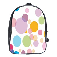 Bubble Water Yellow Blue Green Orange Pink Circle School Bags(large)  by Jojostore