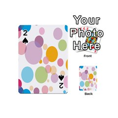 Bubble Water Yellow Blue Green Orange Pink Circle Playing Cards 54 (mini)  by Jojostore