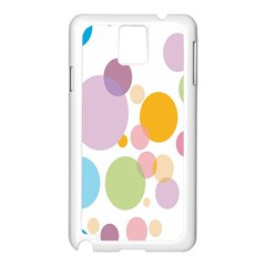 Bubble Water Yellow Blue Green Orange Pink Circle Samsung Galaxy Note 3 N9005 Case (white) by Jojostore