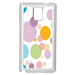 Bubble Water Yellow Blue Green Orange Pink Circle Samsung Galaxy Note 4 Case (white)