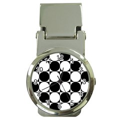 Circles Black White Money Clip Watches