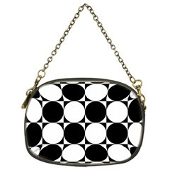 Circles Black White Chain Purses (one Side)  by Jojostore