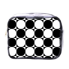 Circles Black White Mini Toiletries Bags