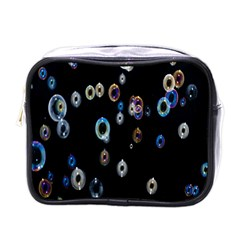 Bubble Light Black Mini Toiletries Bags