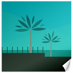 Coconut Palm Trees Sea Canvas 12  X 12   by Jojostore