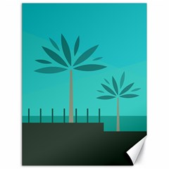 Coconut Palm Trees Sea Canvas 18  X 24   by Jojostore