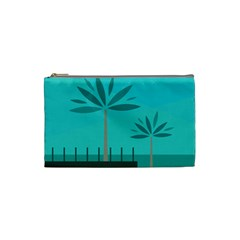 Coconut Palm Trees Sea Cosmetic Bag (small)