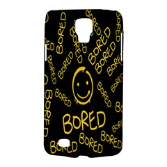 Bored Face Smile Sign Yellow Black Mask Galaxy S4 Active by Jojostore