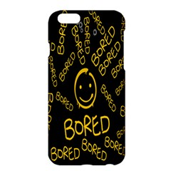 Bored Face Smile Sign Yellow Black Mask Apple Iphone 6 Plus/6s Plus Hardshell Case by Jojostore