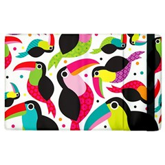 Colorful Toucan Retro Kids Pattern Bird Animals Rainbow Purple Flower Apple Ipad 3/4 Flip Case by Jojostore