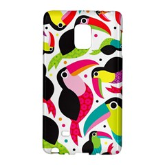 Colorful Toucan Retro Kids Pattern Bird Animals Rainbow Purple Flower Galaxy Note Edge by Jojostore
