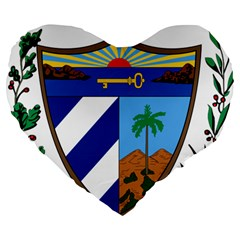 Coat Of Arms Of Cuba Large 19  Premium Heart Shape Cushions by abbeyz71