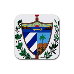 Coat Of Arms Of Cuba Rubber Coaster (square)