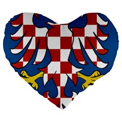 Moravia Coat Of Arms  Large 19  Premium Heart Shape Cushions by abbeyz71