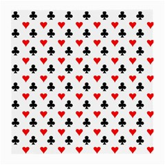 Curly Heart Card Red Black Gambling Game Player Medium Glasses Cloth by Jojostore