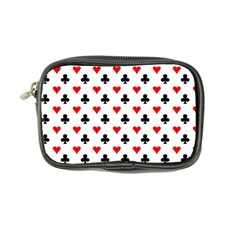 Curly Heart Card Red Black Gambling Game Player Coin Purse by Jojostore