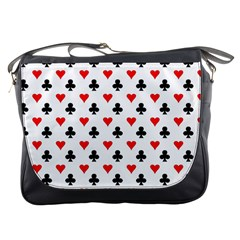Curly Heart Card Red Black Gambling Game Player Messenger Bags by Jojostore