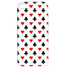 Curly Heart Card Red Black Gambling Game Player Apple Iphone 5 Hardshell Case With Stand