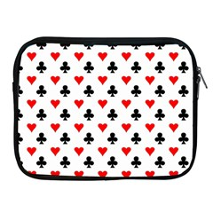 Curly Heart Card Red Black Gambling Game Player Apple Ipad 2/3/4 Zipper Cases