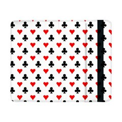 Curly Heart Card Red Black Gambling Game Player Samsung Galaxy Tab Pro 8 4  Flip Case by Jojostore