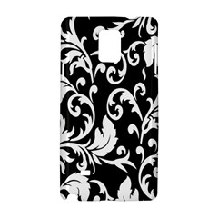 Clasic Floral Flower Black Samsung Galaxy Note 4 Hardshell Case by Jojostore