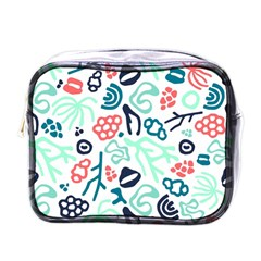 Coral Leaf Flower Sea Mini Toiletries Bags