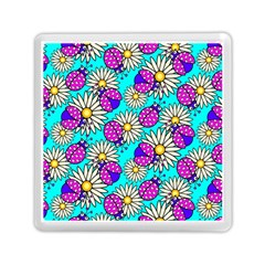 Bunga Matahari Serangga Flower Floral Animals Purple Yellow Blue Pink Memory Card Reader (square)