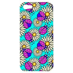 Bunga Matahari Serangga Flower Floral Animals Purple Yellow Blue Pink Apple Iphone 5 Hardshell Case by Jojostore