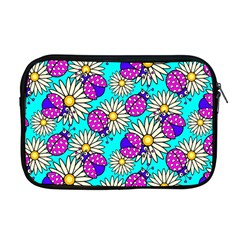 Bunga Matahari Serangga Flower Floral Animals Purple Yellow Blue Pink Apple Macbook Pro 17  Zipper Case