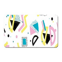Design Elements Illustrator Elements Vasare Creative Scribble Blobs Yellow Pink Blue Magnet (rectangular)