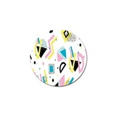 Design Elements Illustrator Elements Vasare Creative Scribble Blobs Yellow Pink Blue Golf Ball Marker (10 Pack) by Jojostore