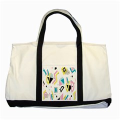 Design Elements Illustrator Elements Vasare Creative Scribble Blobs Yellow Pink Blue Two Tone Tote Bag