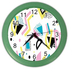 Design Elements Illustrator Elements Vasare Creative Scribble Blobs Yellow Pink Blue Color Wall Clocks by Jojostore