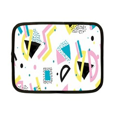 Design Elements Illustrator Elements Vasare Creative Scribble Blobs Yellow Pink Blue Netbook Case (small)  by Jojostore