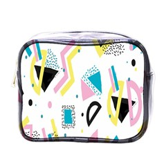 Design Elements Illustrator Elements Vasare Creative Scribble Blobs Yellow Pink Blue Mini Toiletries Bags