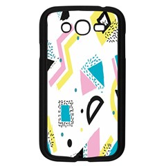 Design Elements Illustrator Elements Vasare Creative Scribble Blobs Yellow Pink Blue Samsung Galaxy Grand Duos I9082 Case (black) by Jojostore