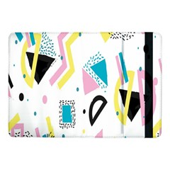 Design Elements Illustrator Elements Vasare Creative Scribble Blobs Yellow Pink Blue Samsung Galaxy Tab Pro 10 1  Flip Case by Jojostore
