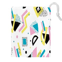 Design Elements Illustrator Elements Vasare Creative Scribble Blobs Yellow Pink Blue Drawstring Pouches (xxl)