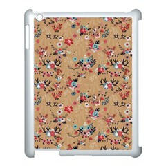 Deer Cerry Animals Flower Floral Leaf Fruit Brown Apple Ipad 3/4 Case (white) by Jojostore
