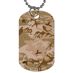 Desert Camo Gulf War Style Grey Brown Army Dog Tag (two Sides)