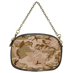 Desert Camo Gulf War Style Grey Brown Army Chain Purses (one Side)